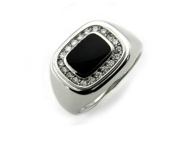 Sterling Silver Men's Ring w/ Onyx