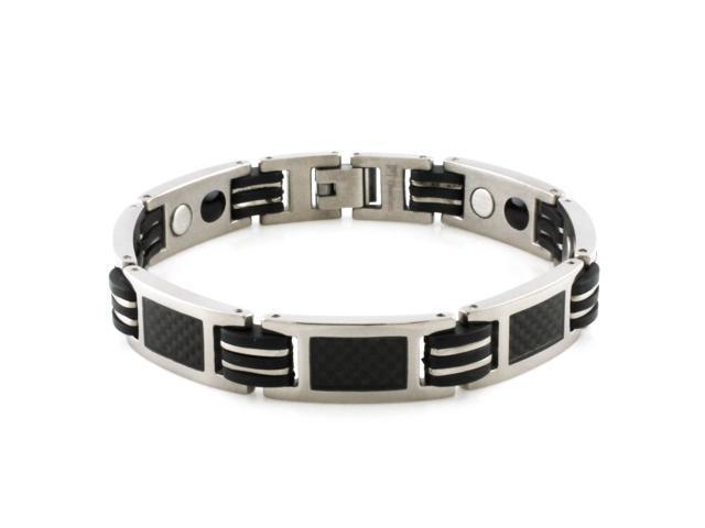 Tioneer B20060 Titanium Carbon Fiber Link Bracelet with Magnet & Germanium