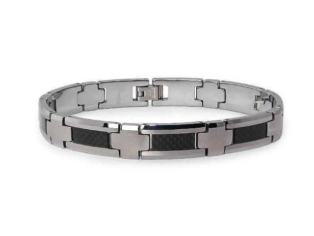 Tungsten Carbon Fiber Inlay Bracelet