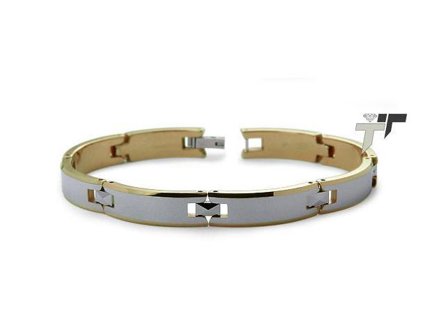 Two Tone Tungsten Carbide Bracelet