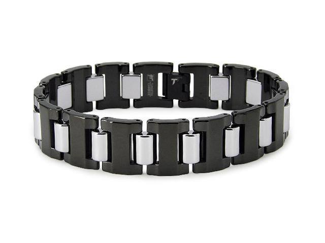 Two-Tone Tungsten Bracelet