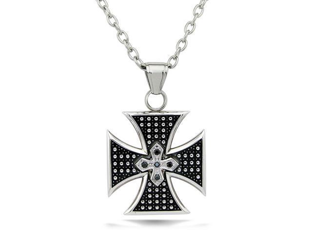 Biker Stainless Steel Cross Pendant