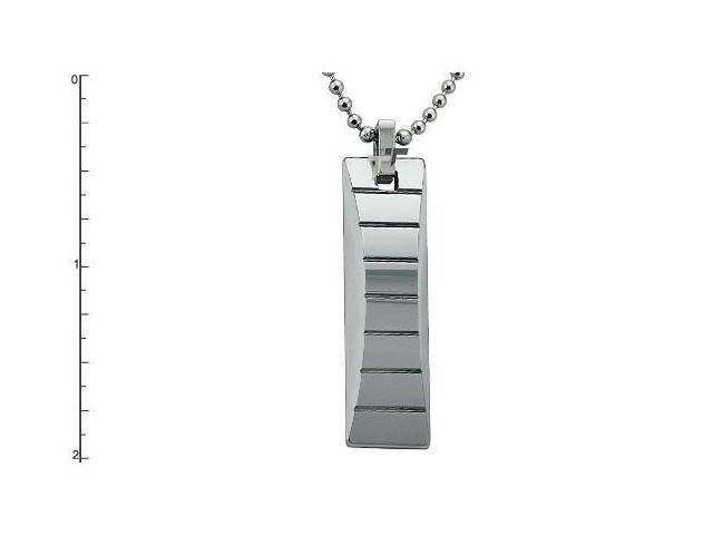 "Tungsten Carbide Pendant w/ 22"" Bead Chain"