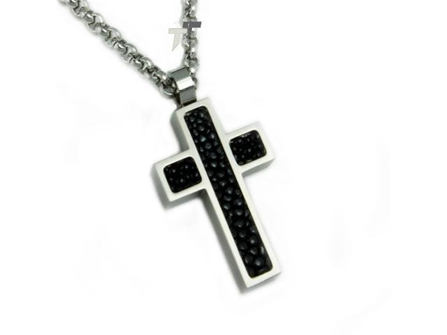 Stainless Steel Men's Cross Pendant