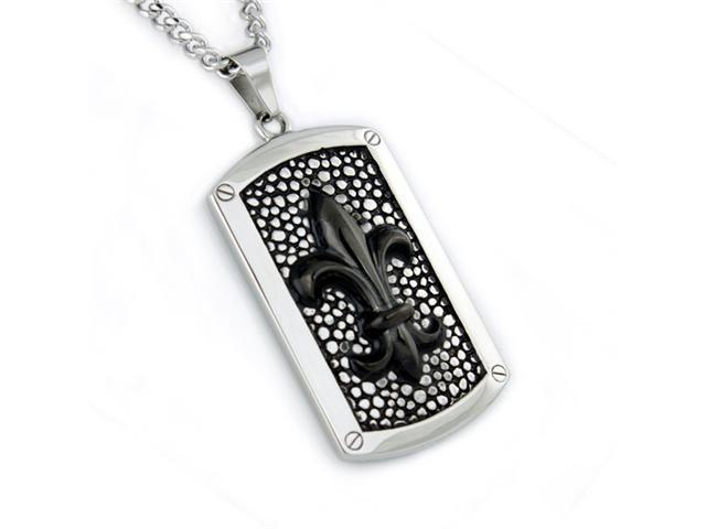 Stainless Steel Men's Dog Tag