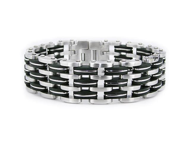 Stainless Steel Men's Biker Link Bracelet