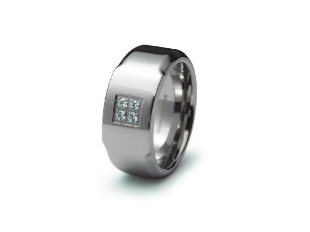 Surgical Stainless Steel CZ Ring