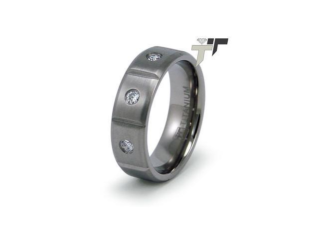 Titanium Men's CZ Ring