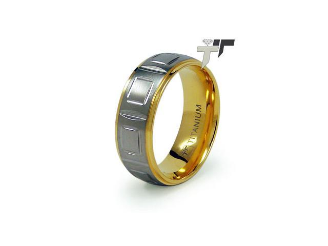 Titanium Golden Wedding Ring