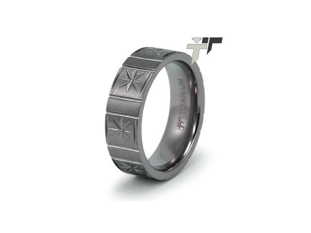 7mm Men's Titanium Flat Band