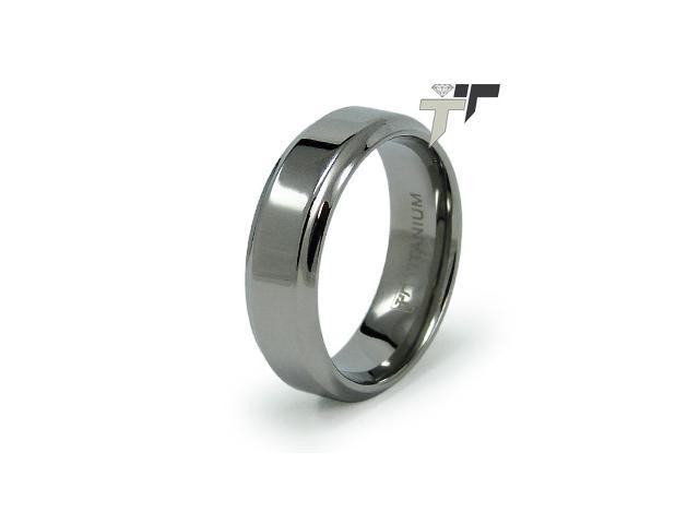 7mm High Polish Titanium Ring