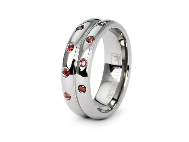 Ladies Titanium Wedding Band