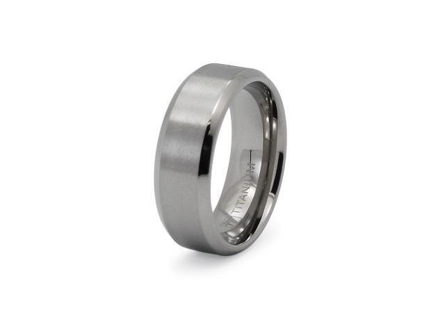 Titanium Satin Finished 8mm Ring