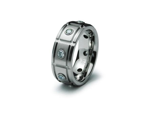 Men Stainless Steel CZ Ring