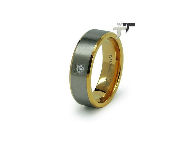 Titanium 18K Gold Plated Wedding Ring