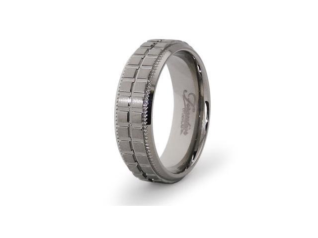 Titanium Grooved Ring