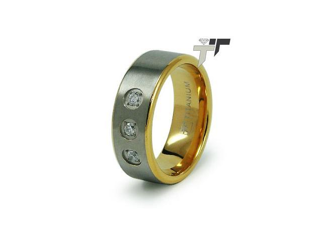 18K Gold Plated Titanium Wedding Ring