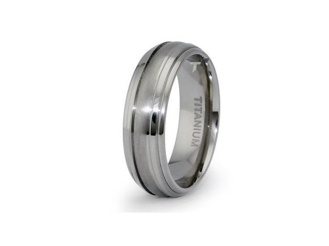 Titanium Ring 7mm Wedding Band