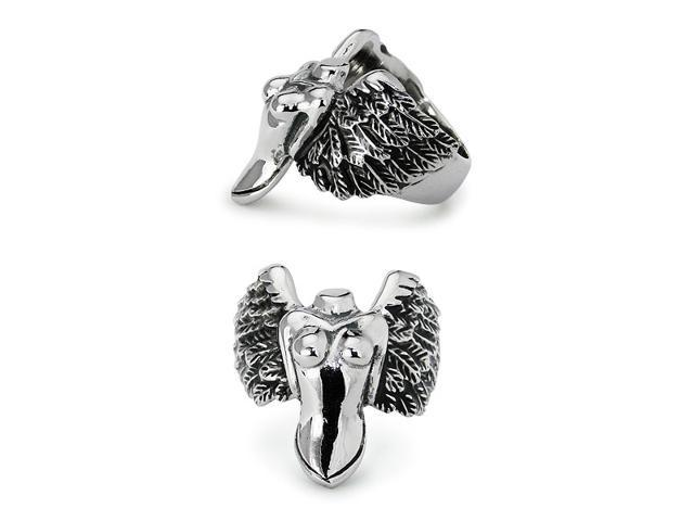 Lady with Wings Stainless Steel Ring