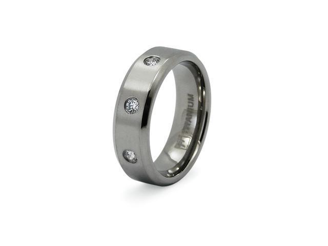 Titanium Multi CZ Ring