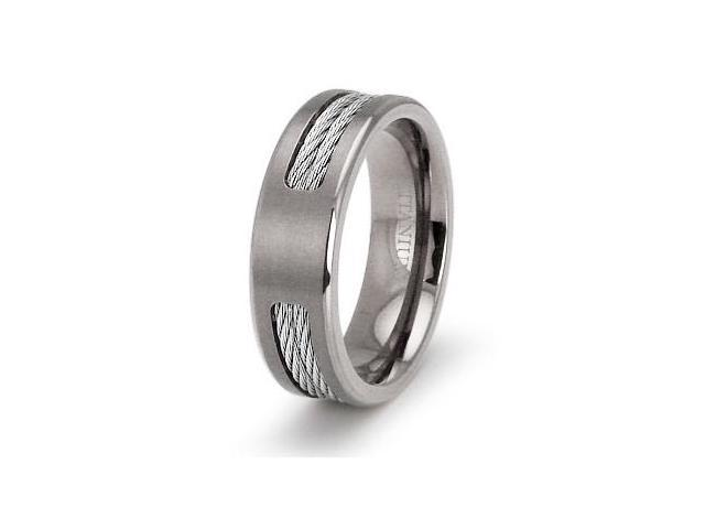 Double Cable Titanium Ring