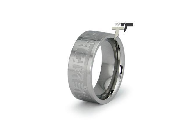 Stainless Steel Ladies Ring w/ Engraving