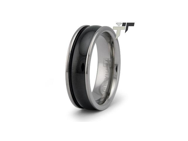 Black PVD Titanium Ring