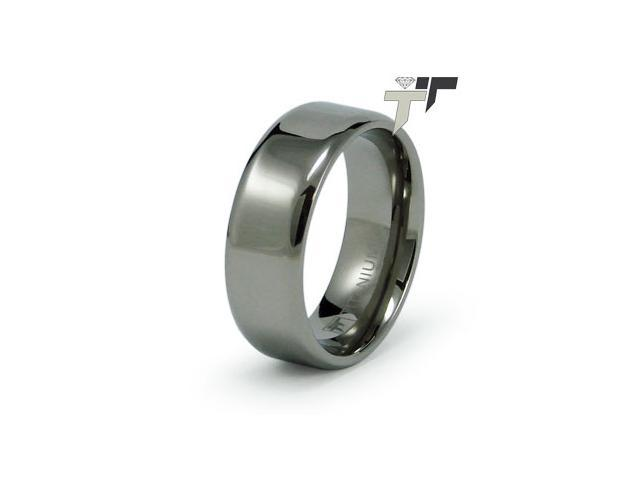Titanium High Polish Wedding Band