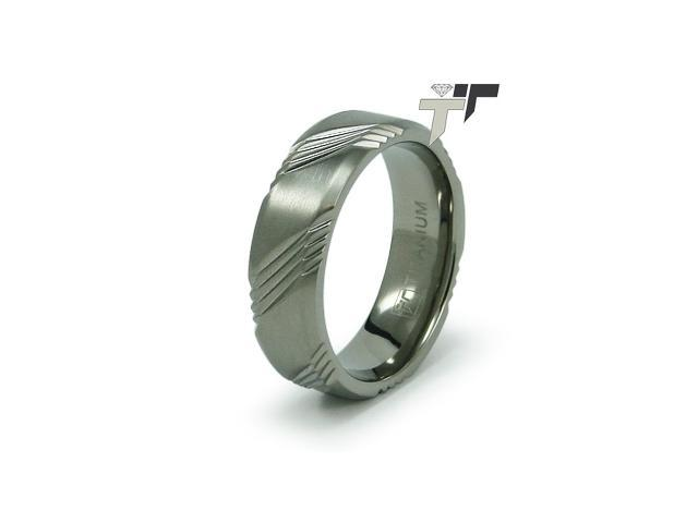 7mm Men's Titanium Wedding Band