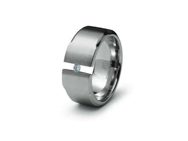 Tension Stainless Steel CZ Ring