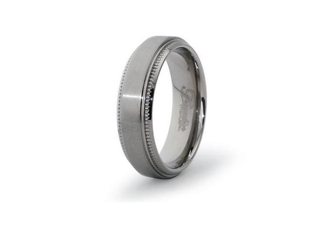Titanium Beveled Edges Ring
