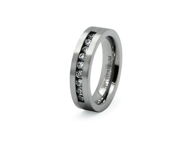 Titanium Ring w/ CZ