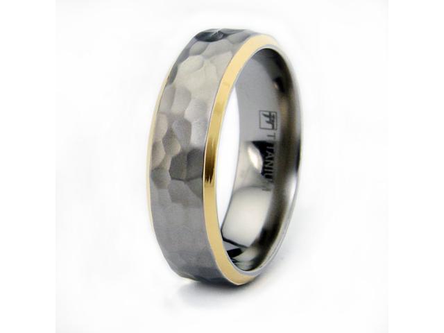 Hammered Titanium Ring