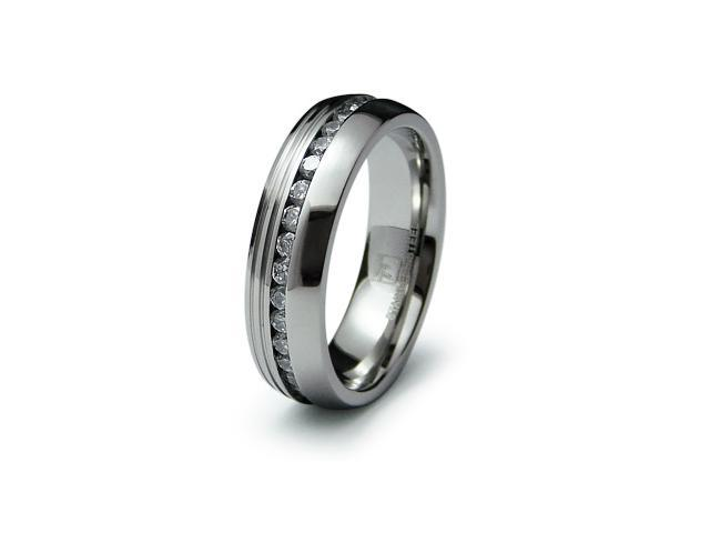 Stainless Steel Eternity CZ Ring