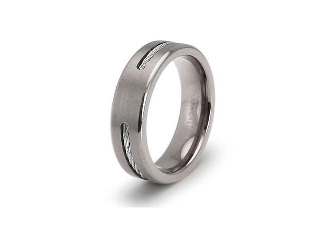 Titanium Cable Wedding Ring
