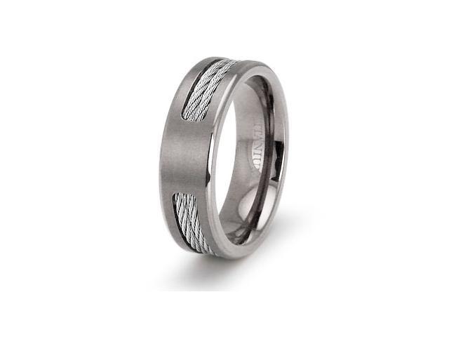 Double Cable Titanium Ring