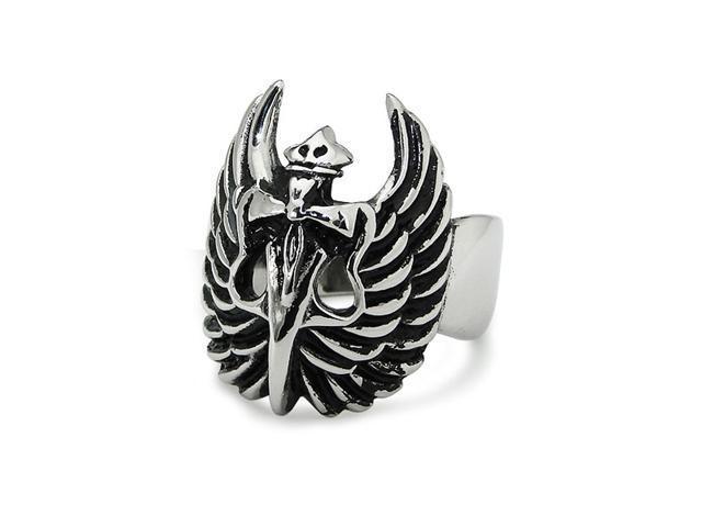Wings-Dagger Stainless Steel Ring