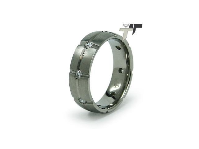 Men's Titanium CZ Ring