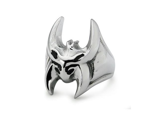 Stainless Steel Oxidized Ring High Polish Finish