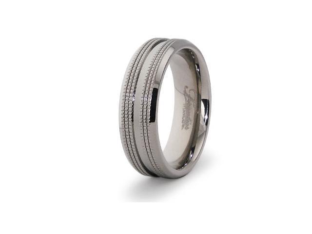 High Polish Titanium Ring
