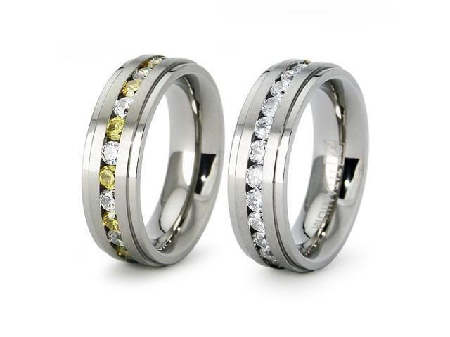 Titanium Eternity Wedding Band