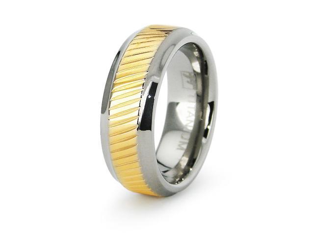 18k Gold Plated Ladies Titanium Wedding Ring