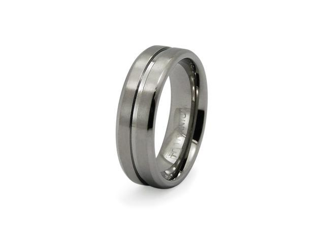 Titanium Ribbed Men's Ring
