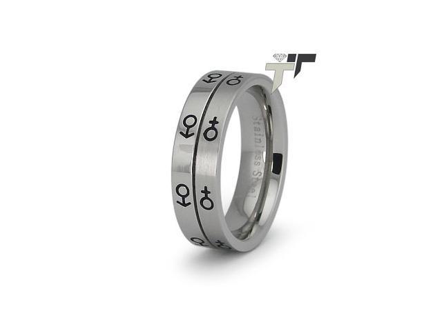 Stainless Steel Ladies Ring