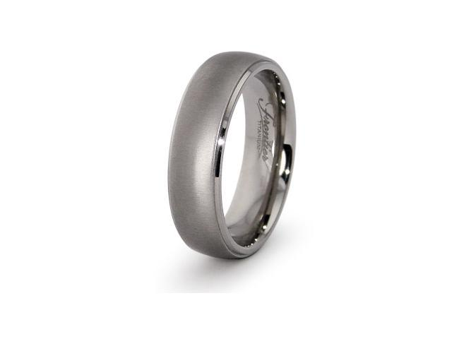 Titanium Half Dome Wedding Ring 7mm
