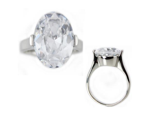 Stainless Steel Solitaire CZ Ring