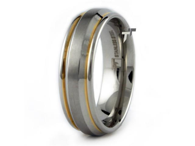 Two-Tone Stainless Steel Wedding Band
