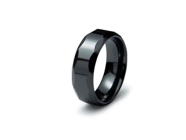 Black Ceramic Ring High Polish Finish