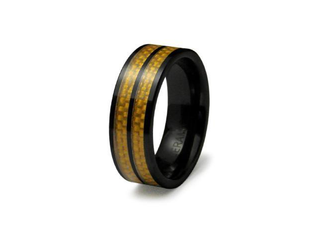 Ceramic Ring with Carbon Fiber Inlay