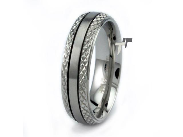 Stainless Steel Men's Braided Cut Ring